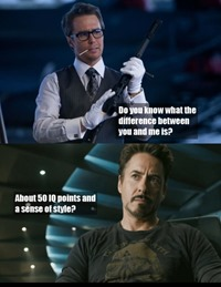 Difference between Tony Stark and Justin Hammer