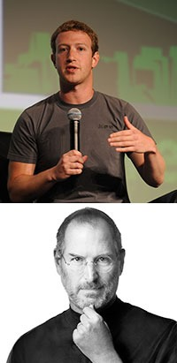 Steve Jobs & Mark Zuckerberg's brand style