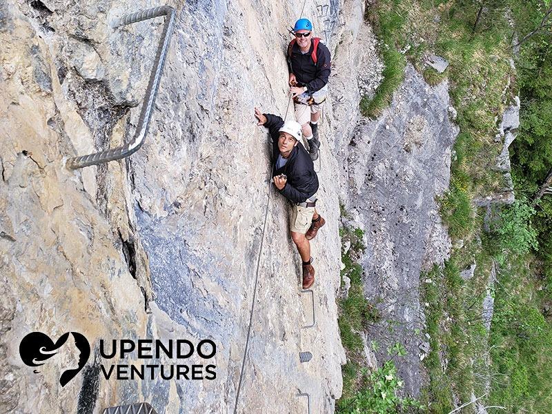 Shaun Walker Rock Climbing in the Swiss Alps